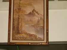 Original  12 x 16 Framed Oil Painting Signed by Antonio Mountain Scene