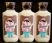 3 BATH & BODY WORKS TWISTED PEPPERMINT BODY LOTION CREAM HAND HOLIDAY TRADITION