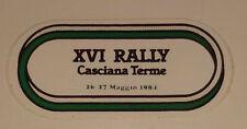 Adesivo Sticker XVI RALLY CASCIANA TERME 1984  cm 10,5 x 5 circa Perfetto
