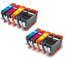 10 New Ink Pack plus Chip for Canon Series PGI-5 CLI-8 MP530 600 MP800 830 MX850