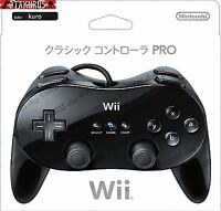 Official Nintendo Wii Classic Pro Wired Controller Pad - Black