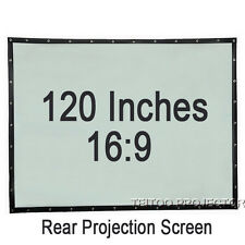 120 Inch 16:9 PVC Fold Portable Rear Projection Screen Film for Movie Projectors