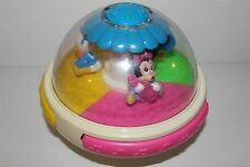 DISNEY VINTAGE ROLY POLY CHIME BALL 1992 LIGHTS UP & MUSIC BATTERY OPERATED