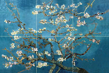 18 x 12 Art Blossoming Almond Tree Ceramic Mural Backsplash Bath Tile #2158