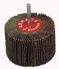 Spindle Mounted Flap Wheels 80mm x 50mm x 60 Grit Medium x 3
