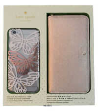 NIB Kate Spade GIFT SET Apple iPhone 6 Plus BUTTERFLY Case ROSE GOLD WRISTLET