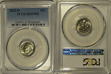 2011 D Roosevelt Dime 10c Pcgs Ms67Fb Full Bands