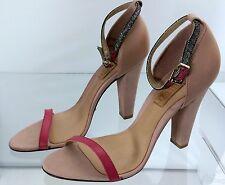 Schutz Atanado Soft Pinkberry Heels Sandal Salto Alto Size 7 $200 - 04020762
