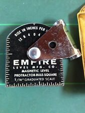 Vitg Tool!Empire Level Mfg Co. Magnetic Protractor Rule 5 Degree Scale! Rare!