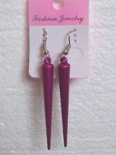 Hot Sexy Rosa Spike pendientes clip