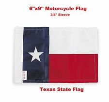 "Pro Pad Motorcycle Flag 6""x9"" State of Texas Flag Fits 3/8"" Flag Poles"
