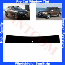 Pre Cut Window Tint Sunstrip for Dacia Duster 5 Doors 2010-... Any Shade