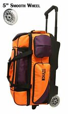 USED - KAZE SPORTS Deluxe 3 Ball Roller Bowling Bag with Smooth PU Wheels