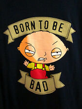 "FAMILY GUY med T shirt Stewie ""Born to Be Bad"" cartoon Fox TV show tee"