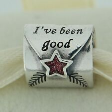 Authentic Pandora 791390EN58 Letter To Santa Enamel Sterling Silver Bead Charm