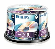 PHILIPS DVD-R 120 MIN VIDÉO 4,7 GO DATA 16X SPEED BLANK CD-ROM BROCHE