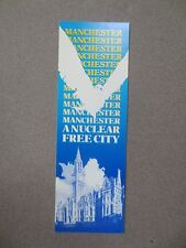 Vintage BOOKMARK MANCHESTER A Nuclear Free City 1980s City Council