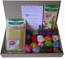 Clover Tools Needle Felting Kit A - large mat, felting tool, wool and needles