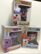 "Funko SQUIDDLY DIDDLY - QUICKDRAW MCGRAW - RICOCHET RABBIT 3.75"" POP FIGURE SET"