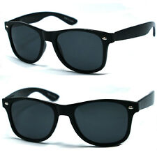 Retro Classic Wayfarer Polarized Designer Sunglasses - Black WF08
