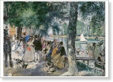 Bathing on the Seine (La Grenouillere). Pierre Auguste Renoir Fine Art Print NEW