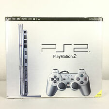 Console PS2 Slim Playstation 2 Satin Silver Argent  + Manette Sony + Boite Box..
