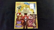 Alice In Wonderland Through The Looking Glass Blu ray+DVD+Digital W/Slipcover,Ne