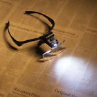 Headband Headset LED Head Light Magnifier Magnifying Glass Loupe 5x Lens NEW