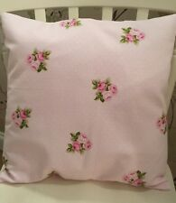 """Fryetts Pink Bouquet Polka Dot Floral Cushion Cover 16"""" Shabby Chic��"""