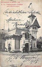 B29029 Espozitione di Milano 1906 Padaglione Eternit Arch marui Speranza italy