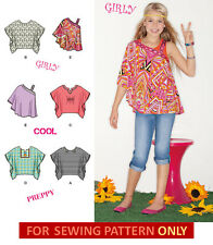 SEWING PATTERN! MAKE GIRLS PONCHO~SHIRT~70S~60S STYLE! SIZES 8~16 SUMMER CLOTHES