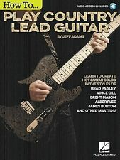 How to Play Country Lead Guitar, Adams, Jeff, Good Book