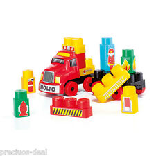 Molto Blocks Fire Truck Kids Building Construction Brick & Block Toy Play Set