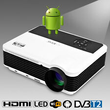 HD LCD LED Android Projector DVB-T2 1080p Wireless Home Cinema Video Game App UK