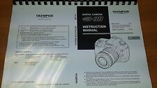 OLYMPUS E-30 DIGITAL CAMERA PRINTED INSTRUCTION MANUAL USER GUIDE 163 PAGES A5