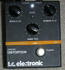 TC Electronic Vintage Distortion Effects Pedal. Yellow. Overdrive.T-Rex Mudhoney