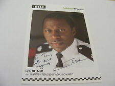 CYRIL NRI Signed THE BILL Cast Card Photo Autograph Supt Adam Okaro