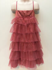 Gap Kids Pink Tulle Ruffle Occasion Lined Dress Size 8