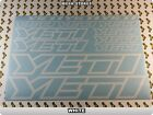 YETI Stickers Decals Bicycles Bikes Cycles Frames Forks Mountain MTB BMX 58MB
