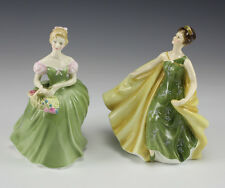 "2pc Royal Doulton Porcelain Figurines ""Clarissa"" and ""Alexandra"""