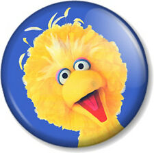 "Big Bird 25mm 1"" Pin Button Badge Sesame Street Retro Kids TV Jim Henson Muppet"