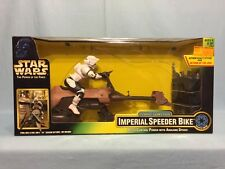 Star Wars Power Of The Force POTF Radio Control RC Imperial Speeder Bike MISB