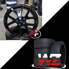 "22"" Viper Style Wheels w Tires Gloss Black Fits Dodge Ram 1500 Durango Dakota"
