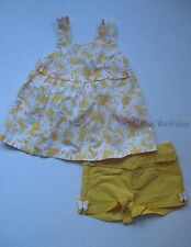 Gymboree Yellow and Black Butterfly Swing Top Twill Shorts Set Girls 2T NEW NWT