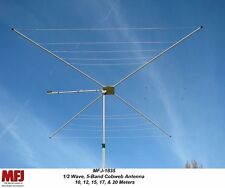 MFJ‑1835 - 1/2 Wave, 5 Band (20, 17, 15, 12, 10 Meters) HF Cobweb Antenna