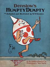 LIBRO PITTURA COPRIRE William Wallace Denslow Humpty Dumpty art print poster LF308