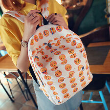 Smiley Emoji Print Backpack Rucksack Travel Sports Satchel School Shoulder Bag