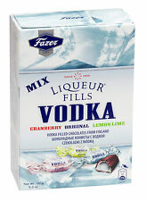 Fazer Liqueur Fills VODKA Filled Chocolates Cranberry Lemon & Lime 150g 5.3oz