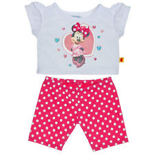 Build a Bear Clothes - Minnie Mouse Leggings Outfit 2 pc. - New