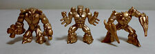 GIOCHI PREZIOSI GORMITI LOT OF 3 GOLDEN ACTION FIGURES RARE F